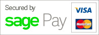 Secured payment provided by Sagepay